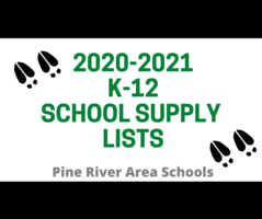 2020-2021 K-12 School Supply Lists