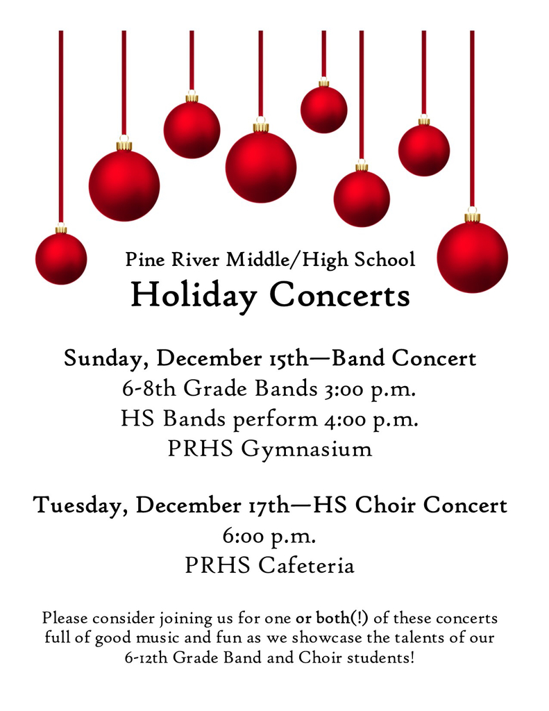 Holiday Concerts