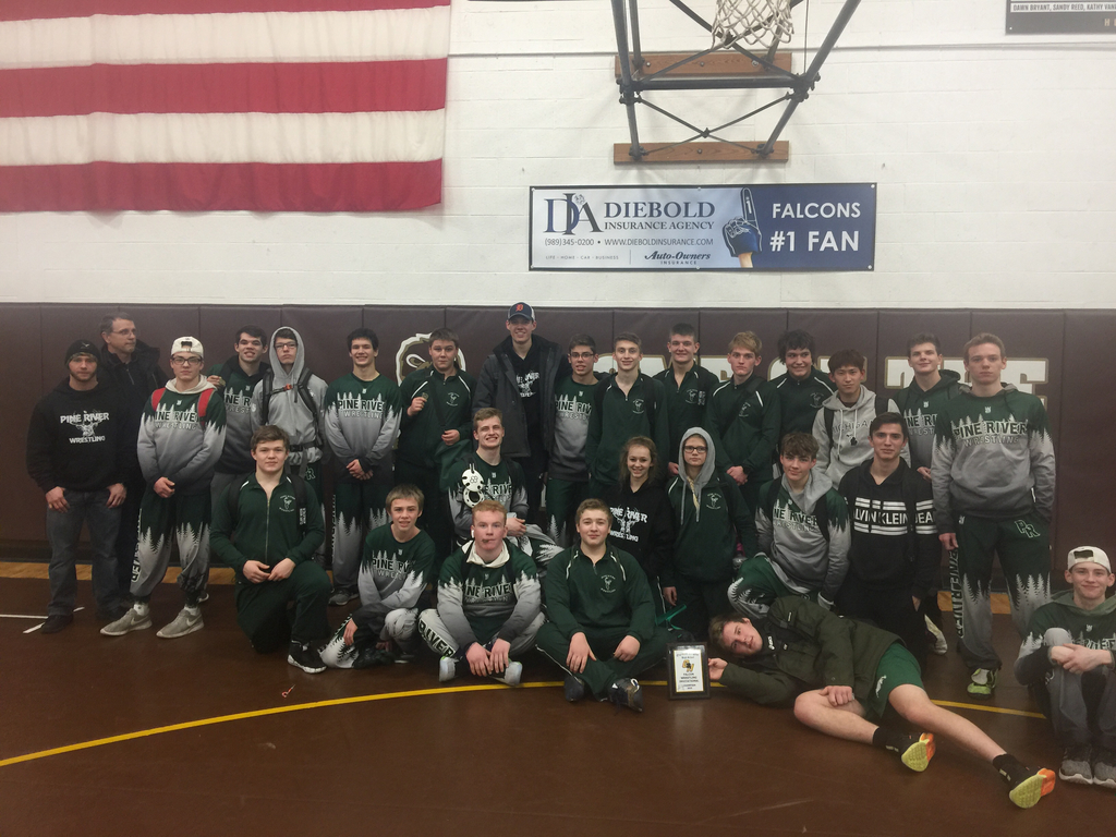 Pine River Wrestling took first at Ogemaw Heights!