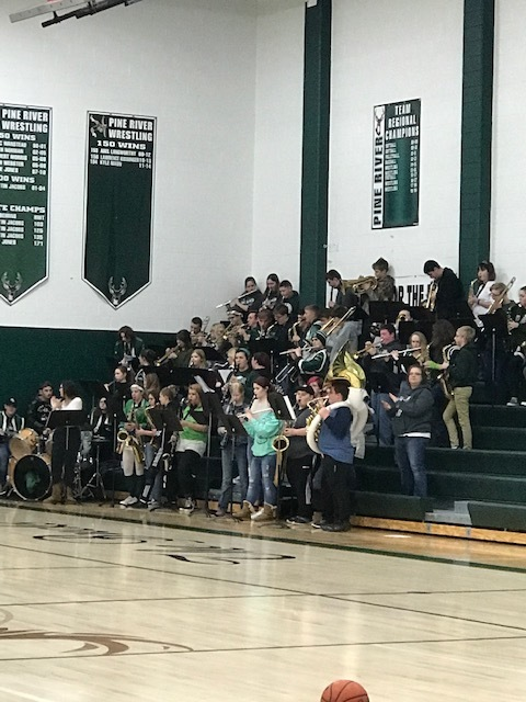 PRHS Band at Snowfest Pep Assembly